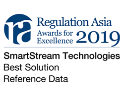 Regulations Asia awarded SmartStream 'Best Solution Reference Data' for The SmartStream Reference Data Utility