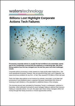 Billions Lost Highlight Corporate Actions Tech Failures