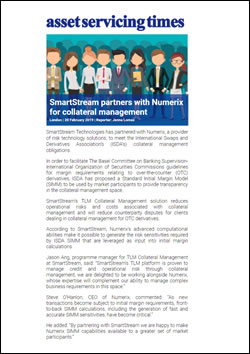SmartStream partners with Numerix for collateral management