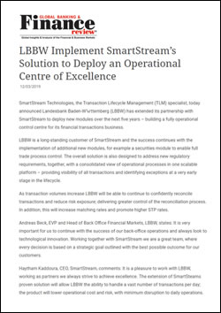 LBBW Implement SmartStream's Solution to Deploy an Operational Centre of Excellence