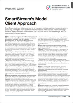 SmartStream continues to be recognized for its innovation and best practices in corporate actions processing