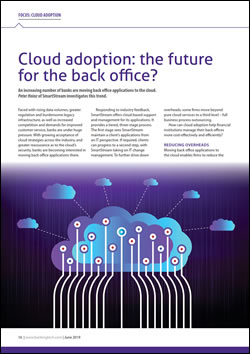 Cloud adoption: the future for the back office?