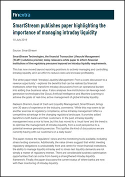 SmartStream publishes paper highlighting the importance of managing intraday liquidity