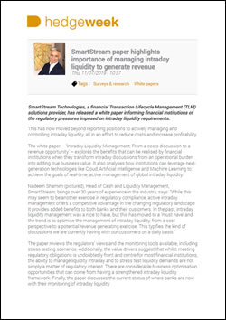 SmartStream paper highlights importance of managing intraday liquidity to generate revenue