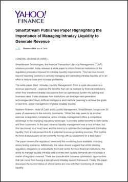 SmartStream Publishes Paper Highlighting the Importance of Managing Intraday Liquidity to Generate Revenue
