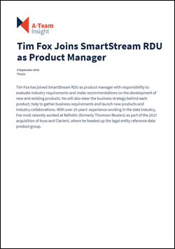 Tim Fox Joins SmartStream RDU as Product Manager