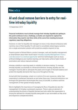 AI and cloud remove barriers to entry for real-time intraday liquidity