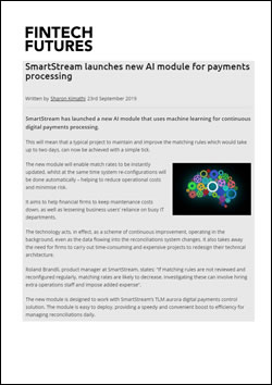 SmartStream launches new AI module for payments processing