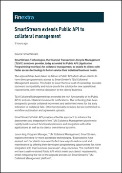 SmartStream extends Public API to collateral management