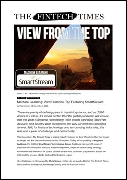 Machine Learning: View From the Top Featuring SmartStream